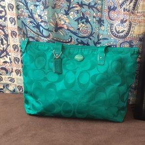 Medium Coach Travel Bag w/ Free small Travel Bag